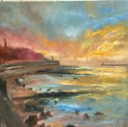 Kate Van Suddese Greeting Card - The Seaside Walk - North Shields